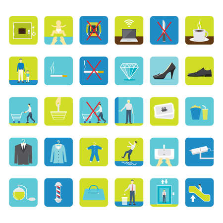 lap top: set of shopping mall icons Illustration
