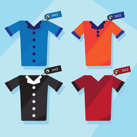 tshirts: shirts and t-shirts Illustration