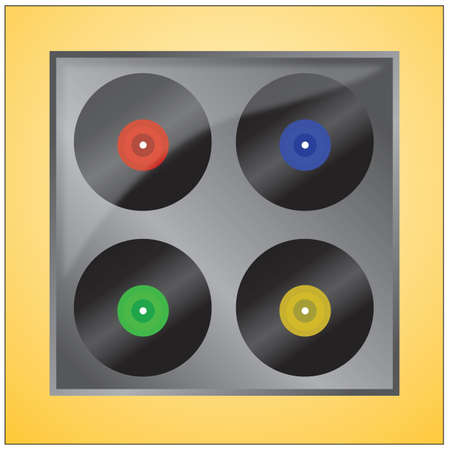 vinyl: vinyl records Illustration