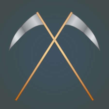 scythe: crossed scythe