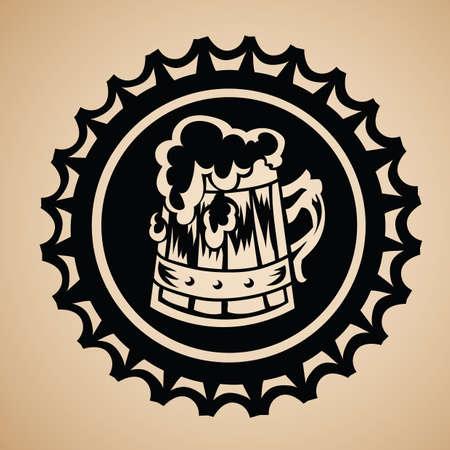 award ribbon: beer mug in a award ribbon