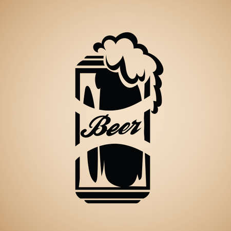 froth: a can of beer