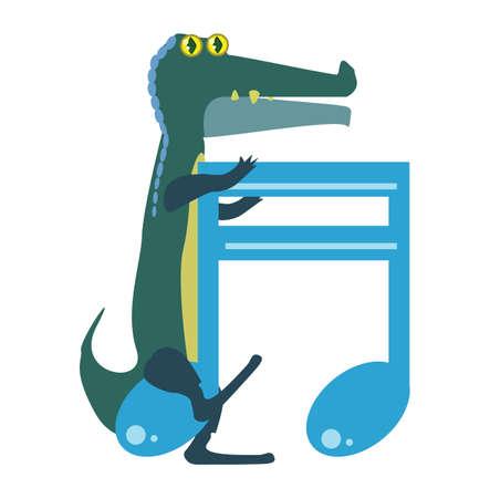beam: cartoon alligator with beam note