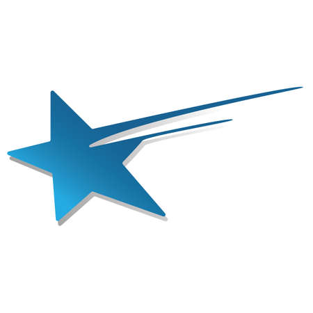 shooting star icon Illustration