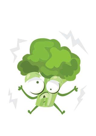 electrocuted: electrocuted broccoli