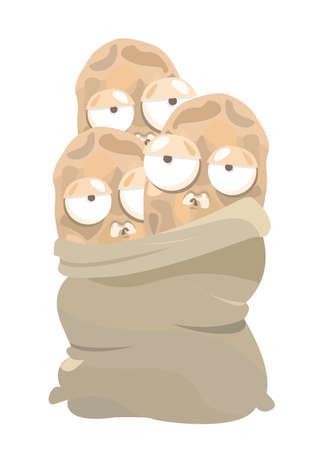sack: sack of potatoes