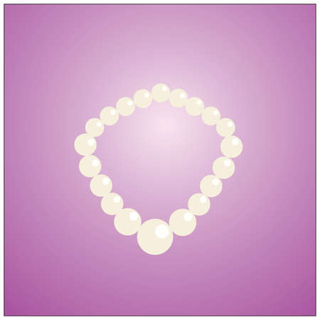 pearl necklace: pearl necklace Illustration