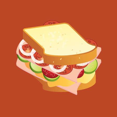 ham sandwich: sandwich