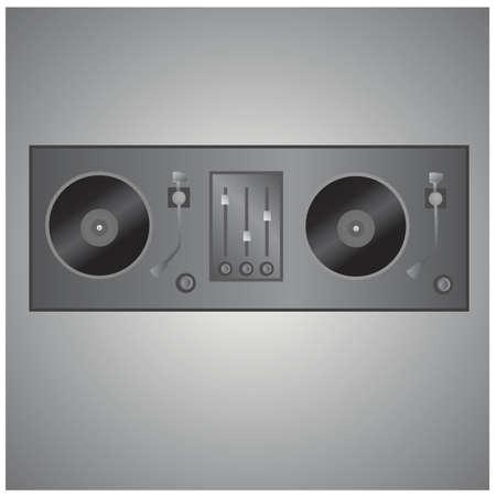 turntable: vinyl turntable Illustration