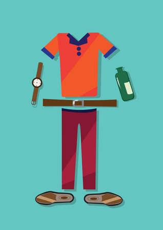 dress code: casual dress code Illustration