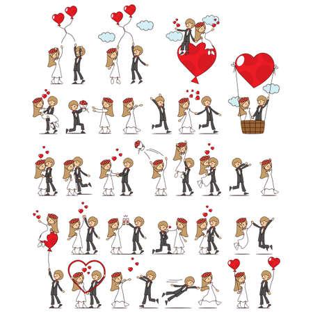 Satz von Ehepaar Standard-Bild - 52623178
