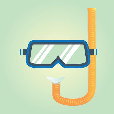 scuba: scuba and snorkel Illustration