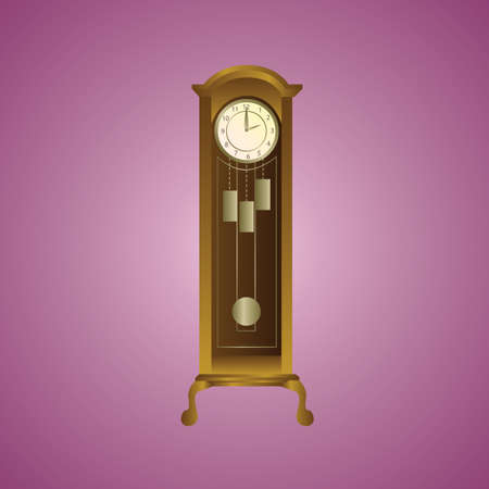 vintage wall: vintage wall clock Illustration
