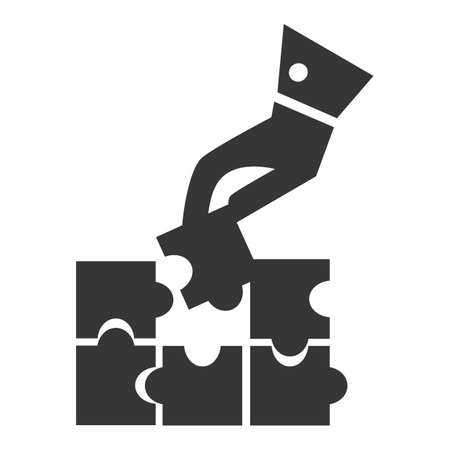 piece: completing a puzzle piece Illustration