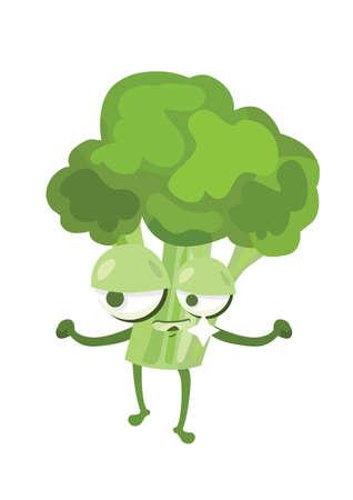 smirking: broccoli smirking Illustration