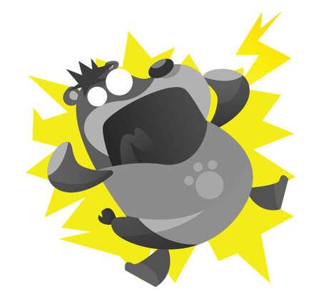 electrocuted: electrocuted bear cartoon