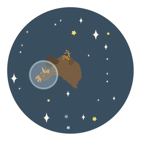 wearing: hen wearing astronaut helmet