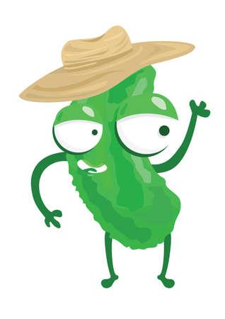 bitter: bitter gourd character Illustration
