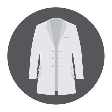 white coat: white coat Illustration