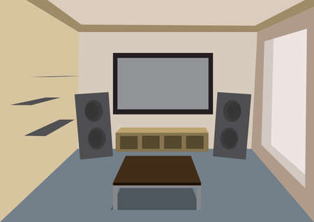 speakers desk: home theater