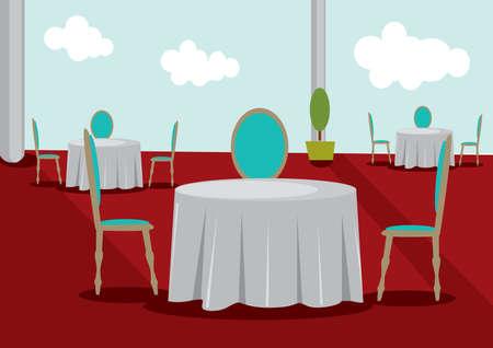 Interior comedor restaurante Foto de archivo - 52629470