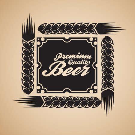 beers: premium quality beer label