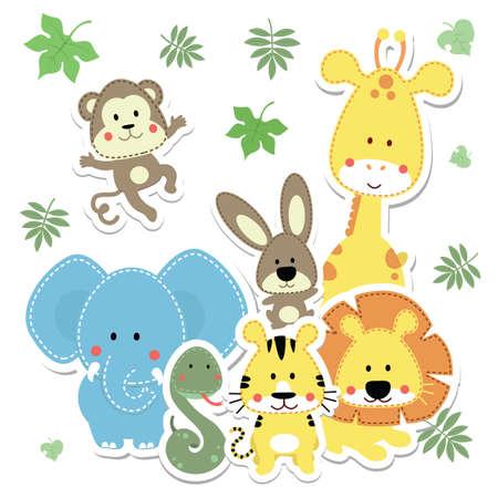animales bebés Ilustración de vector