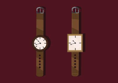 wrist hands: wrist watches Illustration