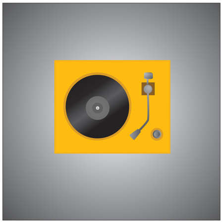 turntable: vinyl turntable Illustration