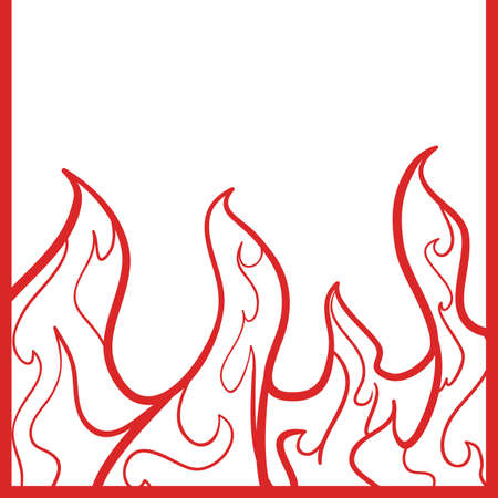 fire hazard: flame background Illustration