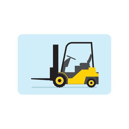fork lift: fork lift truck Illustration