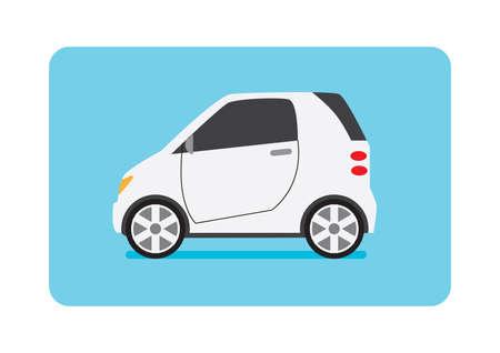 small car: white small car Illustration