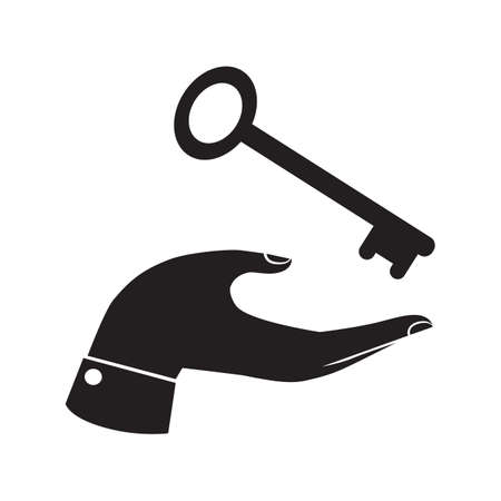 ownership: hand receiving a key Illustration