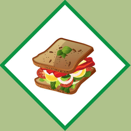 healthy snack: sandwich