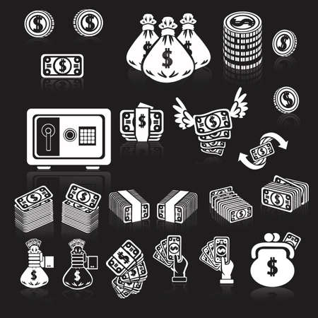 coin purses: money icons