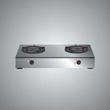 gas stove Vector Illustration