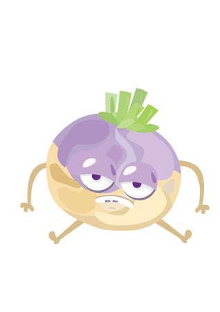 turnip: sad turnip character Illustration