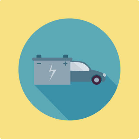 electrical part: car with automobile battery