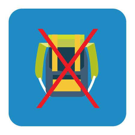 not allowed: back packs not allowed