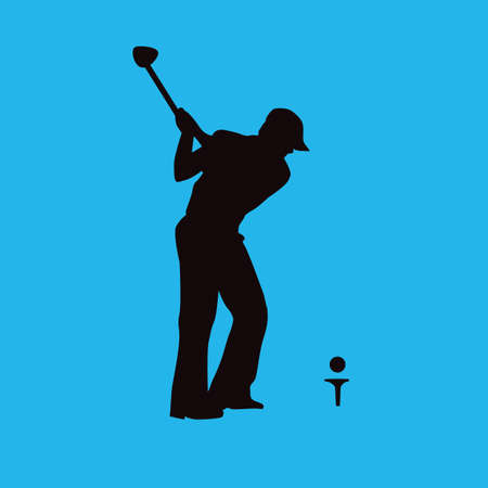 golf player: golf player in action