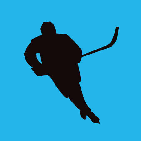 ice hockey player: ice hockey player in action