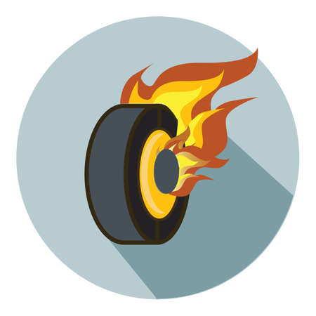 flaming: flaming tire