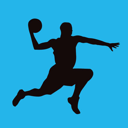 dribble: basketball player in action Illustration