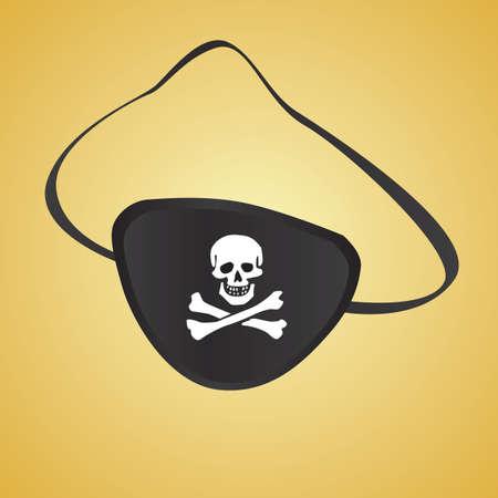 eye patch: pirate eye patch Illustration