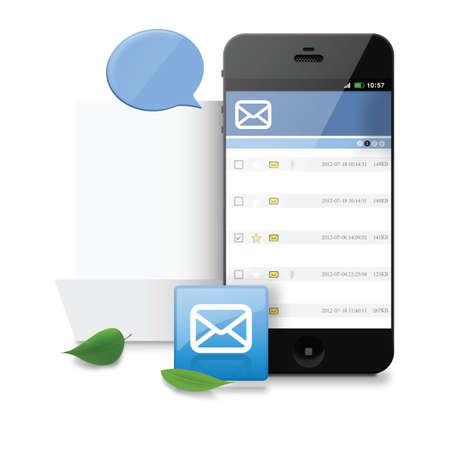 chat bubble: smartphone with chat bubble Illustration