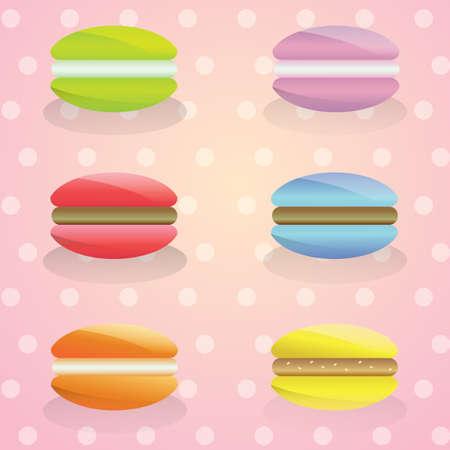 confection: macrons Illustration