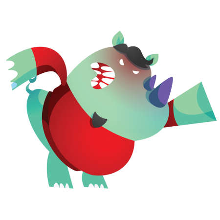 furious: rhinoceros cartoon feeling furious