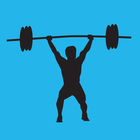 weightlifter: weightlifter in action