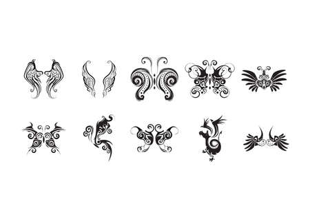 Motif de tatouage réglé Banque d'images - 52636045