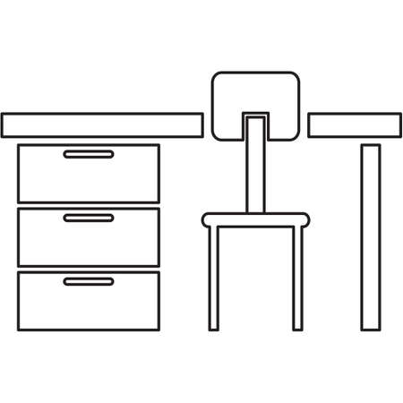 Study Desk: study desk and chair Illustration